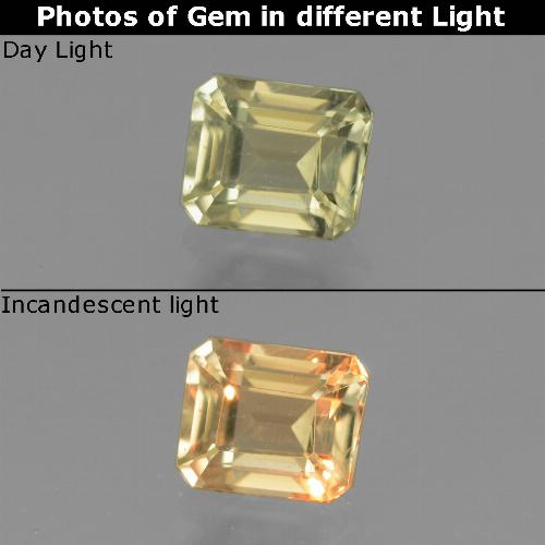 Green to Pink Color-Change Diaspore Gem - 1ct Octagon Facet (ID: 440115)