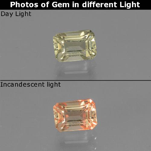 Green to Pink Color-Change Diaspore Gem - 0.8ct Octagon Facet (ID: 440315)