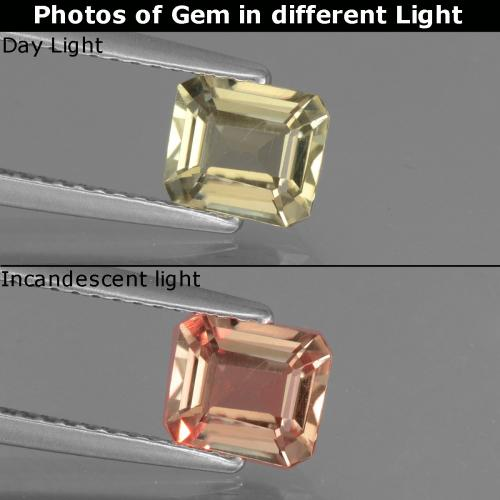 Green to Pink Color-Change Diaspore Gem - 1ct Octagon Facet (ID: 440320)