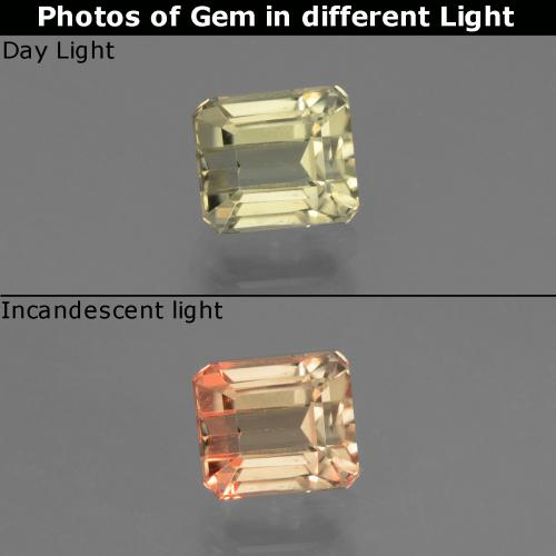 Green to Pink Color-Change Diaspore Gem - 1.1ct Octagon Facet (ID: 440405)