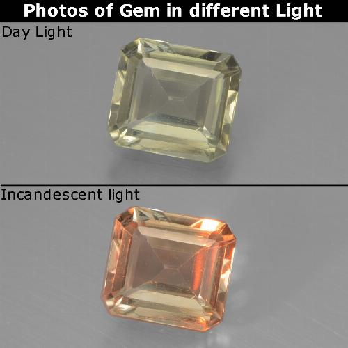 Green to Pink Color-Change Diaspore Gem - 1ct Octagon Facet (ID: 440418)