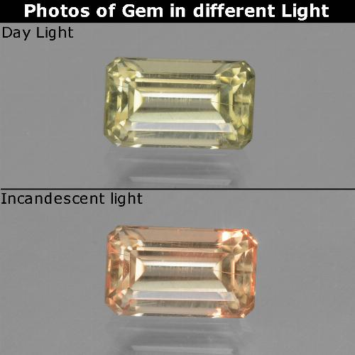 Green to Pink Color-Change Diaspore Gem - 1.2ct Octagon Step Cut (ID: 447651)