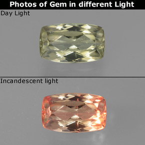Green to Pink Color-Change Diaspore Gem - 1.2ct Cushion-Cut (ID: 451676)