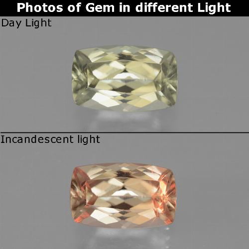 Green to Pink Color-Change Diaspore Gem - 1.3ct Cushion-Cut (ID: 451677)