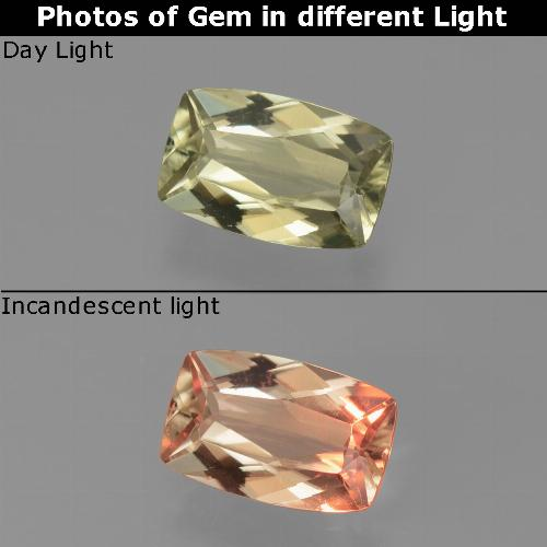 Green to Pink Color-Change Diaspore Gem - 1.1ct Cushion-Cut (ID: 451678)