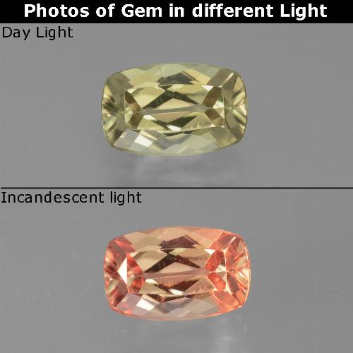 Green to Pink Color-Change Diaspore Gem - 1.3ct Cushion-Cut (ID: 451681)