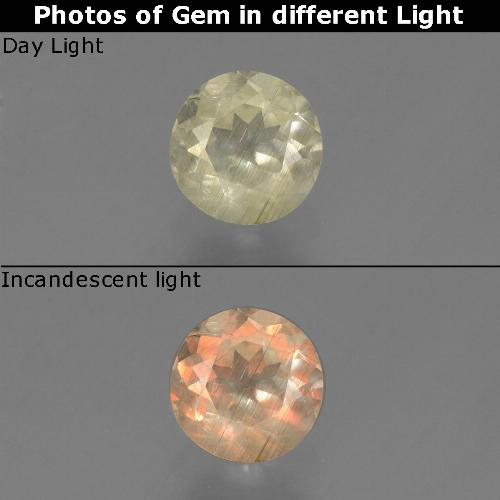 Green to Pink Color-Change Diaspore Gem - 0.5ct Round Facet (ID: 452401)