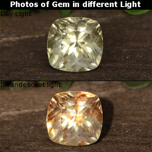 Green to Pink Color-Change Diaspore Gem - 0.8ct Cushion-Cut (ID: 452447)