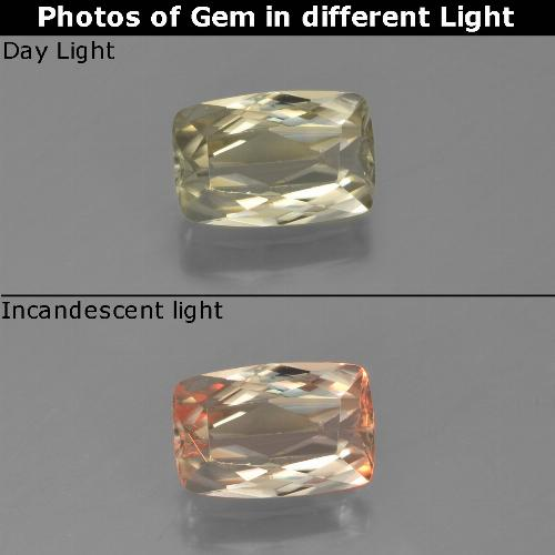 Green to Pink Color-Change Diaspore Gem - 1.2ct Cushion-Cut (ID: 454096)