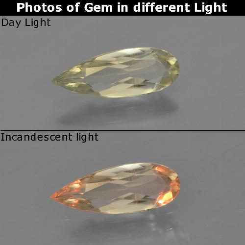 Green to Pink Color-Change Diaspore Gem - 0.8ct Pear Facet (ID: 454319)
