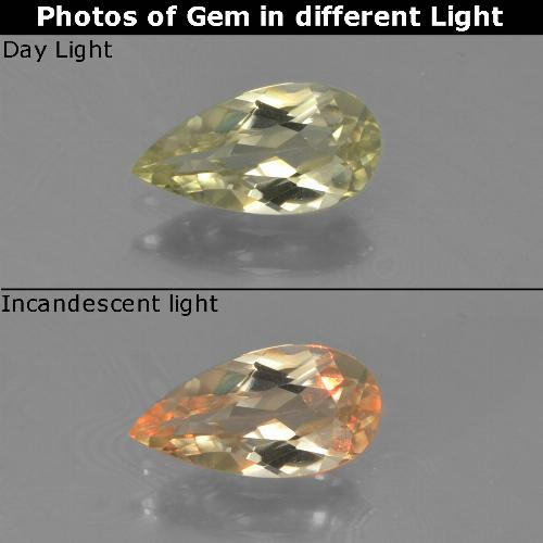 Green to Pink Color-Change Diaspore Gem - 0.7ct Pear Facet (ID: 454393)