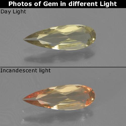 Green to Pink Color-Change Diaspore Gem - 0.6ct Pear Facet (ID: 454394)