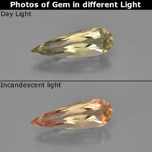Green to Pink Color-Change Diaspore Gem - 1ct Pear Facet (ID: 454410)