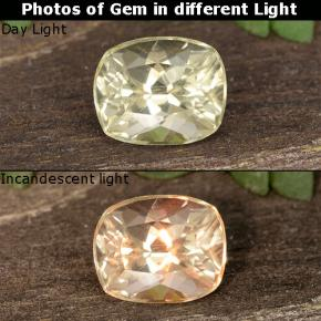 Green to Pink Color-Change Diaspore Gem - 0.5ct Cushion-Cut (ID: 454562)