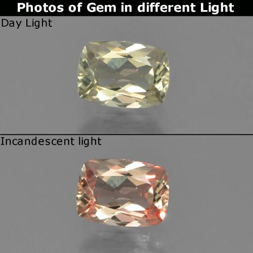 Green to Pink Color-Change Diaspore Gem - 0.6ct Cushion-Cut (ID: 454577)