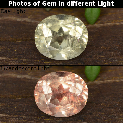 Green to Pink Color-Change Diaspore Gem - 0.8ct Oval Facet (ID: 478375)