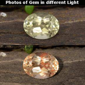 Green to Pink Color-Change Diaspore Gem - 1ct Oval Facet (ID: 478376)