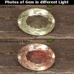 Green to Pink Color-Change Diaspore Gem - 0.8ct Oval Facet (ID: 478381)