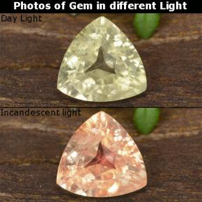 Green to Pink Color-Change Diaspore Gem - 0.8ct Trillion Facet (ID: 478382)