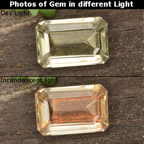 Green to Pink Color-Change Diaspore Gem - 0.7ct Octagon Step Cut (ID: 478519)