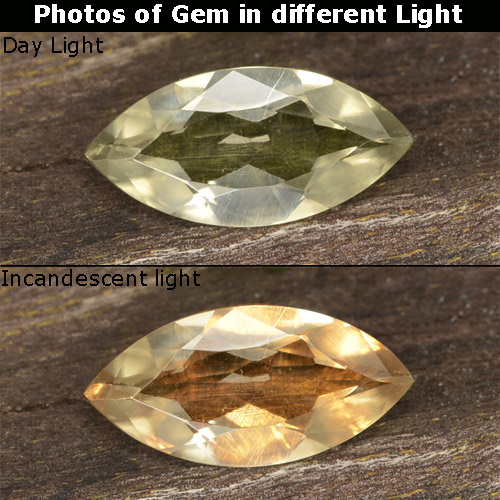 Green to Pink Color-Change Diaspore Gem - 0.8ct Marquise Facet (ID: 478523)