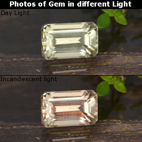 Green to Pink Color-Change Diaspore Gem - 0.8ct Octagon Step Cut (ID: 478671)