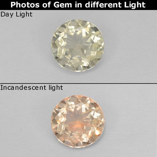 Green to Pink Color-Change Diaspore Gem - 0.5ct Round Facet (ID: 511248)