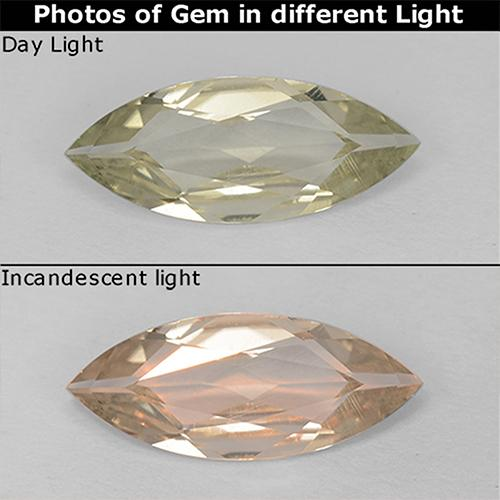 Green to Pink Color-Change Diaspore Gem - 0.8ct Marquise Facet (ID: 511249)