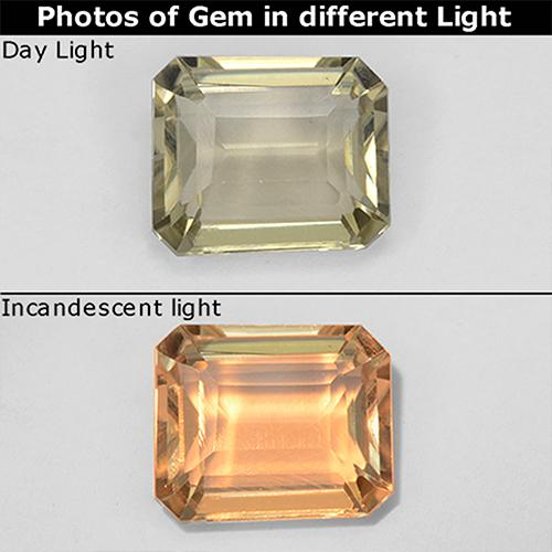 Green to Pink Color-Change Diaspore Gem - 1.1ct Octagon Step Cut (ID: 511705)