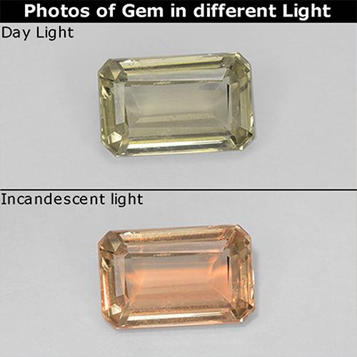 Green to Pink Color-Change Diaspore Gem - 0.8ct Octagon Step Cut (ID: 511706)