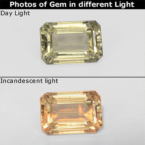 Green to Pink Color-Change Diaspore Gem - 1ct Octagon Step Cut (ID: 511708)