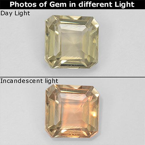 Green to Pink Color-Change Diaspore Gem - 1ct Octagon Step Cut (ID: 511709)