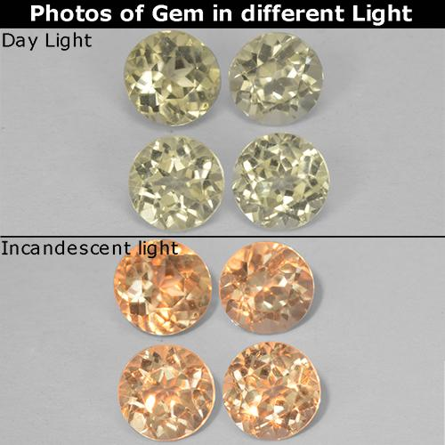 Green to Pink Color-Change Diaspore Gem - 0.5ct Round Facet (ID: 511810)