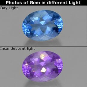 Buy 23.33 ct Violet-Blue Color-Change Fluorite 20.29 mm x 15.3 mm from GemSelect (Product ID: 413906)