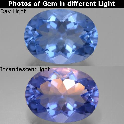 Violet to Blue Color-Change Fluorite Gem - 21.5ct Oval Facet (ID: 445591)