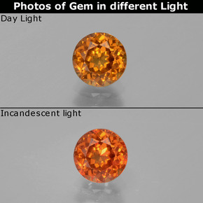 Buy 0.86 ct Orange Color-Change Garnet 5.47 mm  from GemSelect (Product ID: 252634)