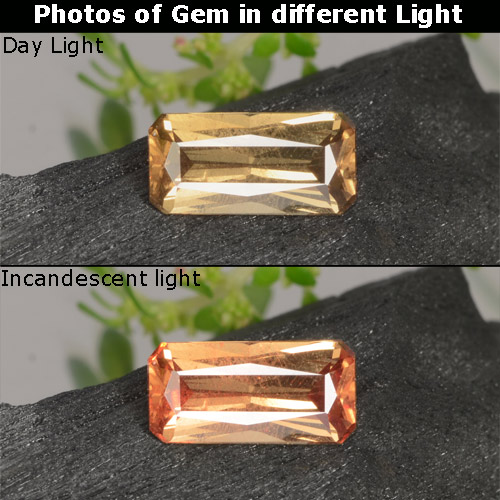 Buy 0.63 ct Golden Brown to Orange Color-Change Garnet 7.04 mm x 3.5 mm from GemSelect (Product ID: 253182)