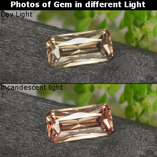 Golden Brown to Orange Color-Change Garnet Gem - 0.6ct Octagon / Scissor Cut (ID: 262423)