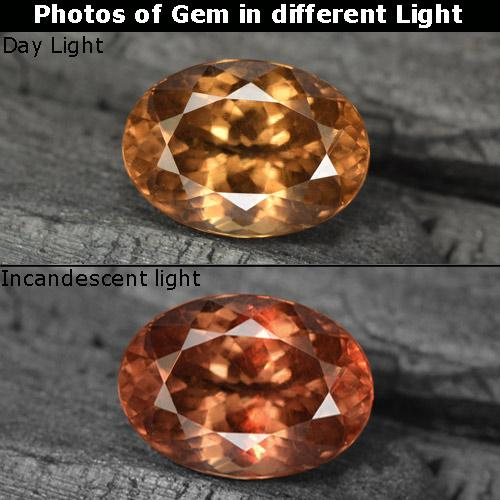Golden Brown to Orange Color-Change Garnet Gem - 3.8ct Oval Facet (ID: 344565)
