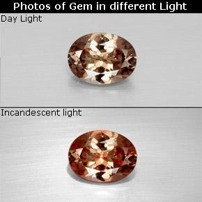 Golden Brown to Orange Color-Change Garnet Gem - 1.6ct Oval Facet (ID: 344762)