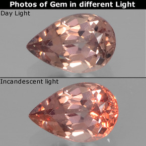 Golden Brown to Pink Color-Change Garnet Gem - 0.5ct Pear Facet (ID: 346320)