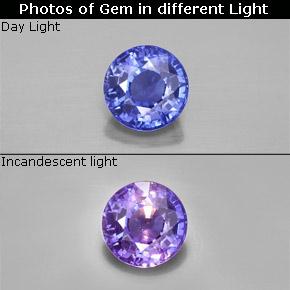 2 8 Carat Blue To Violet Color Change Sapphire Gem From