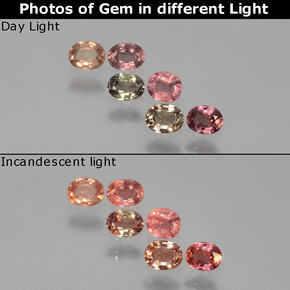 Multicolor Color-Change Sapphire Gem - 0.2ct Oval Facet (ID: 403809)