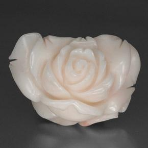 Pink Coral Gem - 34.3ct Carved Rose (ID: 334035)
