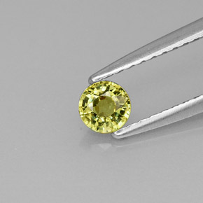 Buy 0.27 ct Golden Green Demantoid Garnet 3.78 mm  from GemSelect (Product ID: 232074)