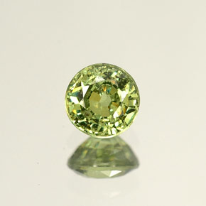 Buy 0.53 ct Golden Green Demantoid Garnet 4.58 mm  from GemSelect (Product ID: 238058)