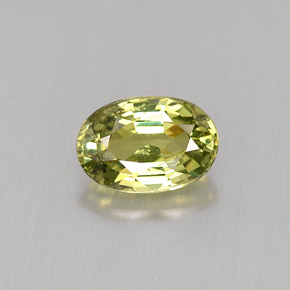Buy 0.65 ct Golden Green Demantoid Garnet 6.07 mm x 4.1 mm from GemSelect (Product ID: 245539)