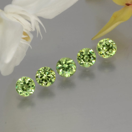 Golden Green Demantoid Garnet Gem - 0.3ct Diamond-Cut (ID: 255627)