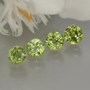 Golden Green Demantoid Garnet Gem - 0.5ct Round Facet (ID: 259962)