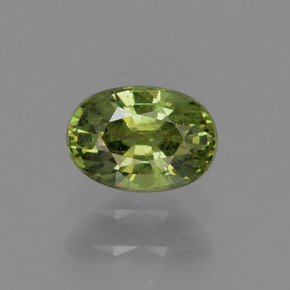 Golden Green Demantoid Garnet Gem - 0.7ct Oval Facet (ID: 272926)